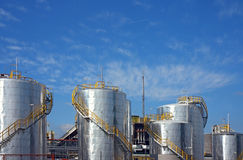 Petro-chemical factory. And sky Stock Image