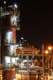 Petro and chemical plant - night scene Royalty Free Stock Photos