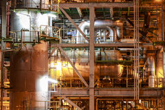 Petro and chemical plant - night scene Stock Photos
