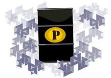 Petro, concetto cripto di valuta illustrazione vettoriale