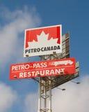 Petro-Kanada tecken Fotografering för Bildbyråer