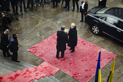 Petro Poroshenko και Dalia GrybauskaitÄ- Στοκ φωτογραφίες με δικαίωμα ελεύθερης χρήσης