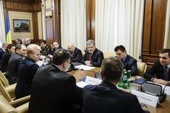 Petro Poroshenko και Dalia GrybauskaitÄ- Στοκ Εικόνες