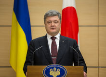 Petro Poroshenko σε Tokio στοκ εικόνα με δικαίωμα ελεύθερης χρήσης