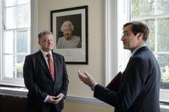 Petro Poroshenko на Королевском институте международных отношений Cha Стоковая Фотография