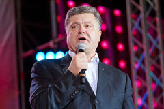 Petro Poroshenko Arkivfoton