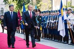 Petro Poroshenko and Andrej Kiska Royalty Free Stock Image