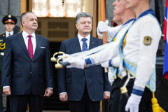 Petro Poroshenko and Andrej Kiska Royalty Free Stock Photos