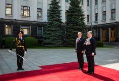 Petro Poroshenko and Andrej Kiska Stock Images