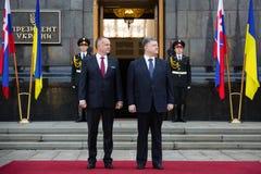Petro Poroshenko and Andrej Kiska Royalty Free Stock Images
