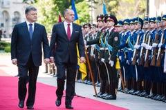 Petro Poroshenko and Andrej Kiska Stock Photos