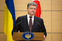 Petro Poroshenko dans Tokio photos libres de droits
