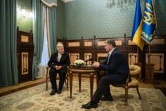 Petro Poroshenko and David Lynch Stock Photos