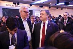 Petro Poroshenko e Carl Bildt Fotografia Stock