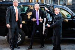 Petro Poroshenko e Joe Biden durante sua reunião em Kiev Imagens de Stock Royalty Free