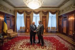 Petro Poroshenko e presidente de Israel Reuven Rivlin Imagem de Stock Royalty Free