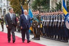 Petro Poroshenko e presidente di Israel Reuven Rivlin Fotografia Stock