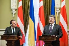 Petro Poroshenko en Lars Lokke Rasmussen Royalty-vrije Stock Fotografie