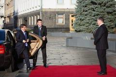 Petro Poroshenko i Ahmet Davutoglu Zdjęcie Royalty Free