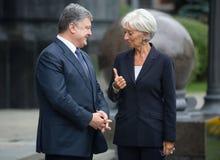 Petro Poroshenko i Christine Lagarde Obraz Royalty Free