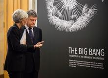 Petro Poroshenko i Christine Lagarde Obraz Stock
