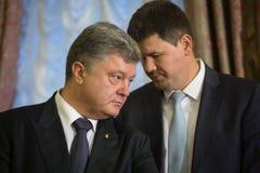 Petro Poroshenko i Svyatoslav Tsegolko Obrazy Royalty Free