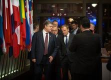 Petro Poroshenko, Jean-Claude Juncker and Donald Tusk Stock Photo