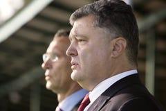 Petro Poroshenko and Jens Stoltenberg Royalty Free Stock Images