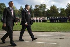 Petro Poroshenko and Jens Stoltenberg Stock Image