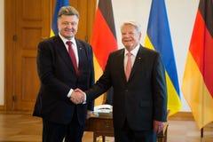 Petro Poroshenko and Joachim Gauck Royalty Free Stock Photos