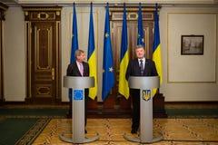 Petro Poroshenko and Johannes Hahn Royalty Free Stock Image