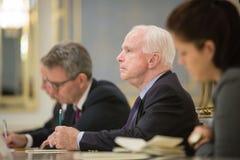 Petro Poroshenko and John McCain Royalty Free Stock Photography