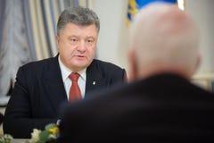 Petro Poroshenko and John McCain Stock Photography