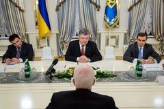Petro Poroshenko and John McCain Royalty Free Stock Image