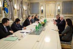 Petro Poroshenko and John McCain Royalty Free Stock Images