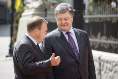 Petro Poroshenko and Lars Lokke Rasmussen Stock Photos