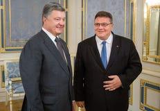Petro Poroshenko and Linas Linkevicius Royalty Free Stock Image