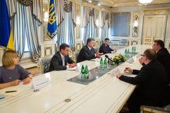 Petro Poroshenko and Linas Linkevicius Royalty Free Stock Photo