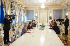 Petro Poroshenko and Linas Linkevicius Royalty Free Stock Photos