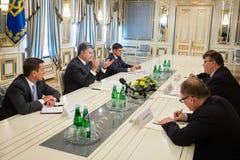 Petro Poroshenko and Linas Linkevicius Stock Image
