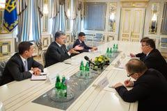 Petro Poroshenko and Linas Linkevicius Royalty Free Stock Images