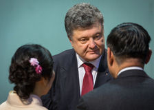 Petro Poroshenko on New Year's reception for the diplomatic head Stock Images