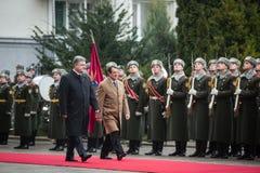 Petro Poroshenko and Nicos Anastasiades. KIEV, UKRAINE - Dec 11, 2015: Guard of honor. President of Ukraine Petro Poroshenko and the president of the Republic of Stock Photos
