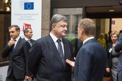 Petro Poroshenko och Donald Tusk Royaltyfri Fotografi