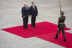 Petro Poroshenko and President of Belarus Alexander Lukashenko Royalty Free Stock Photo