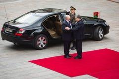 Petro Poroshenko and President of Belarus Alexander Lukashenko Stock Photography