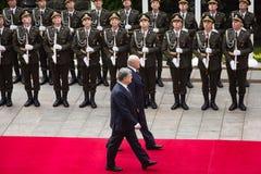 Petro Poroshenko and President of Belarus Alexander Lukashenko Stock Images