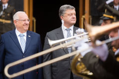 Petro Poroshenko and President of Israel Reuven Rivlin Royalty Free Stock Photography
