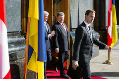 Petro Poroshenko and Stephen Harper Stock Image