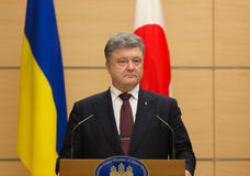 Petro Poroshenko in Tokio fotografia stock libera da diritti